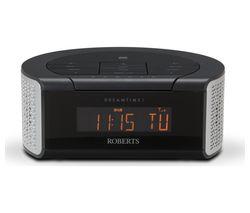 ROBERTS DREAMTIME2 DAB Clock Radio - Black & Silver