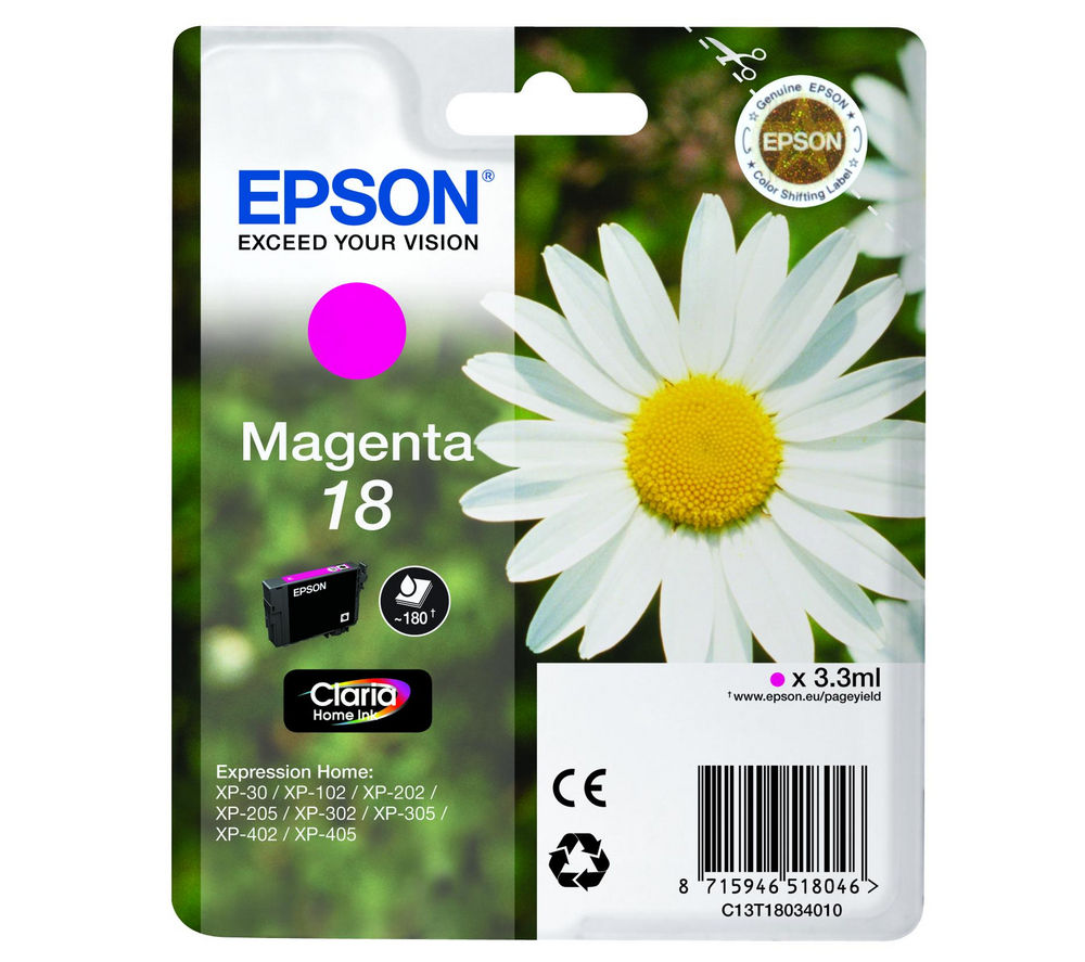 EPSON Daisy T1803 Magenta Ink Cartridge