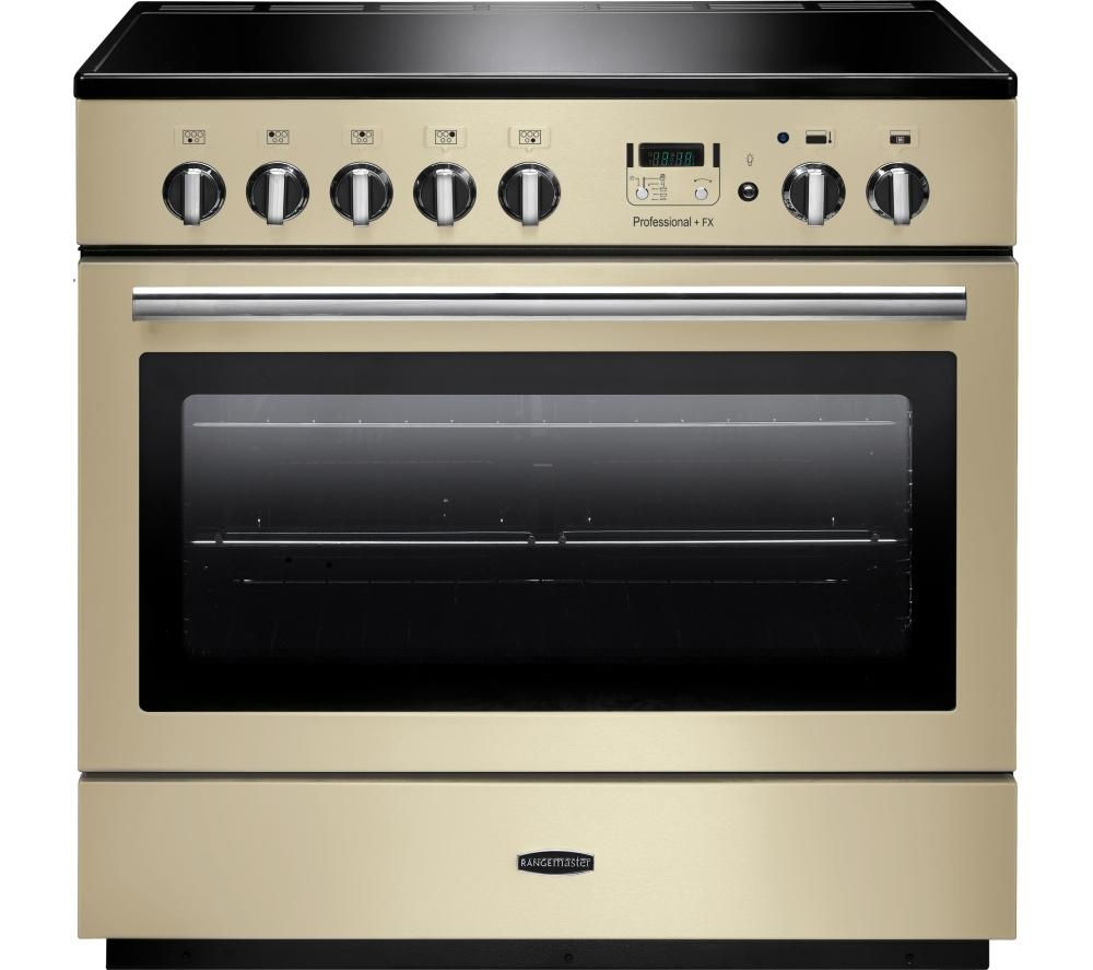 RANGEMASTER  Professional 90 FX Electric Induction Range Cooker  Cream & Chrome Cream