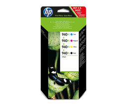HP 940XL Cyan, Magenta, Yellow & Black Ink Cartridges - Multipack