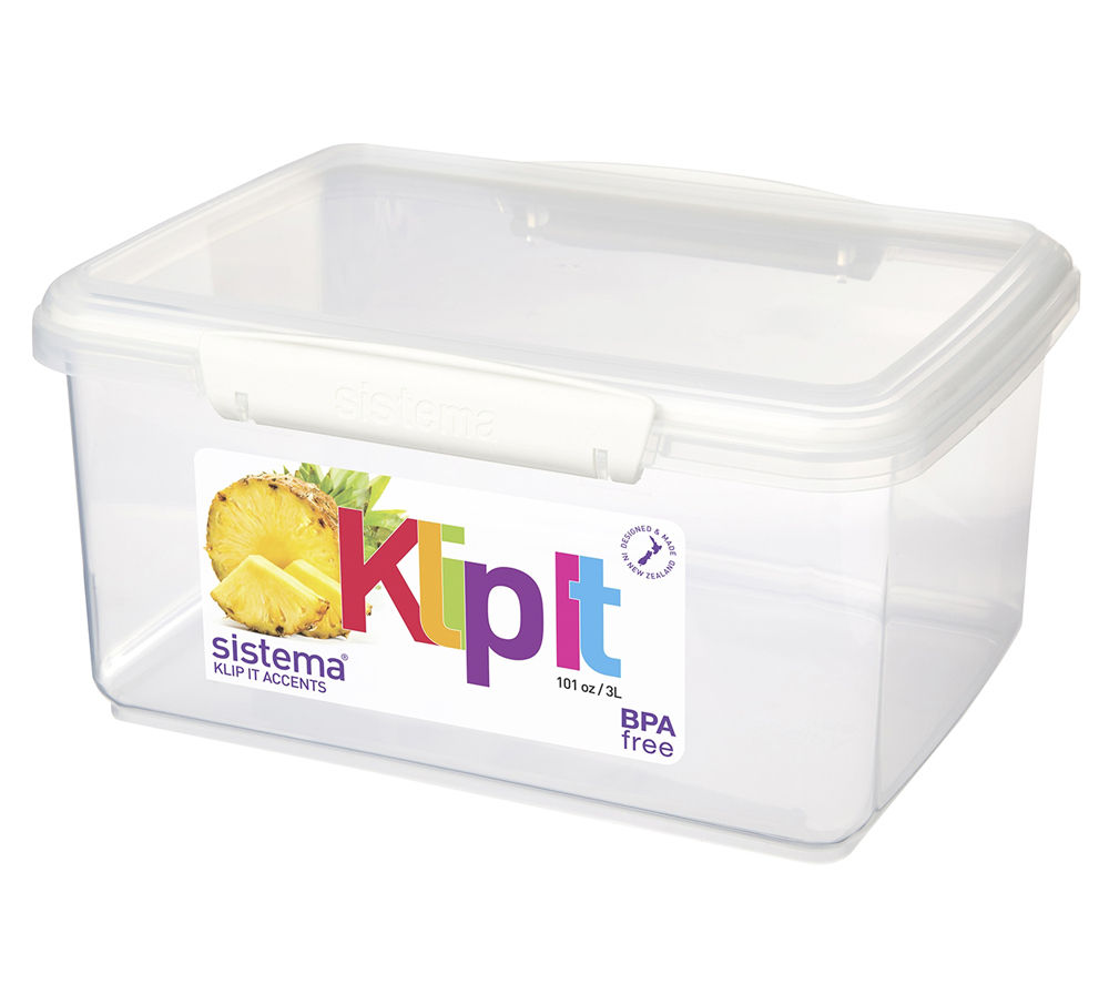 SISTEMA Klip It Rectangular 3-litre Box