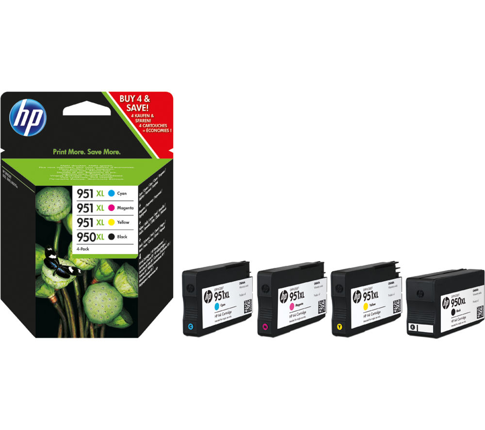 HP 950XL/951 XL Cyan, Magenta, Yellow & Black Ink Cartridges - Multipack
