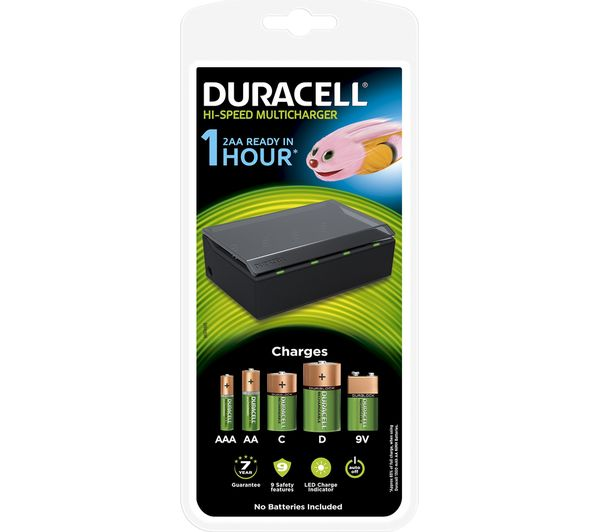 Duracell CEF22 MultiCharger Battery Charger  for AA AAA C D and 9V batteries