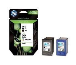 HP 21/22 Tri-colour & Black Ink Cartridges - Twin Pack