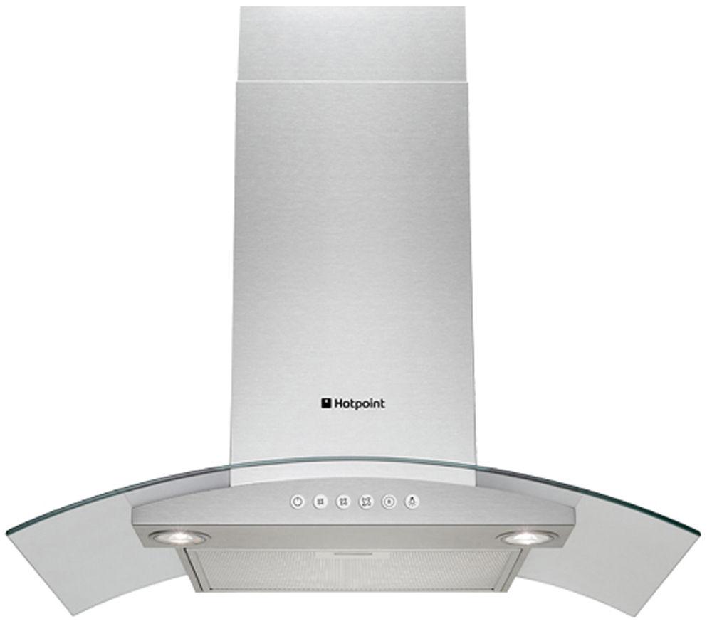 hotpoint hda65sab chimney cooker hood stainless steel. Black Bedroom Furniture Sets. Home Design Ideas