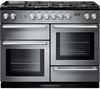 RANGEMASTER Nexus 110 Dual Fuel Range Cooker - Stainless Steel & Chrome