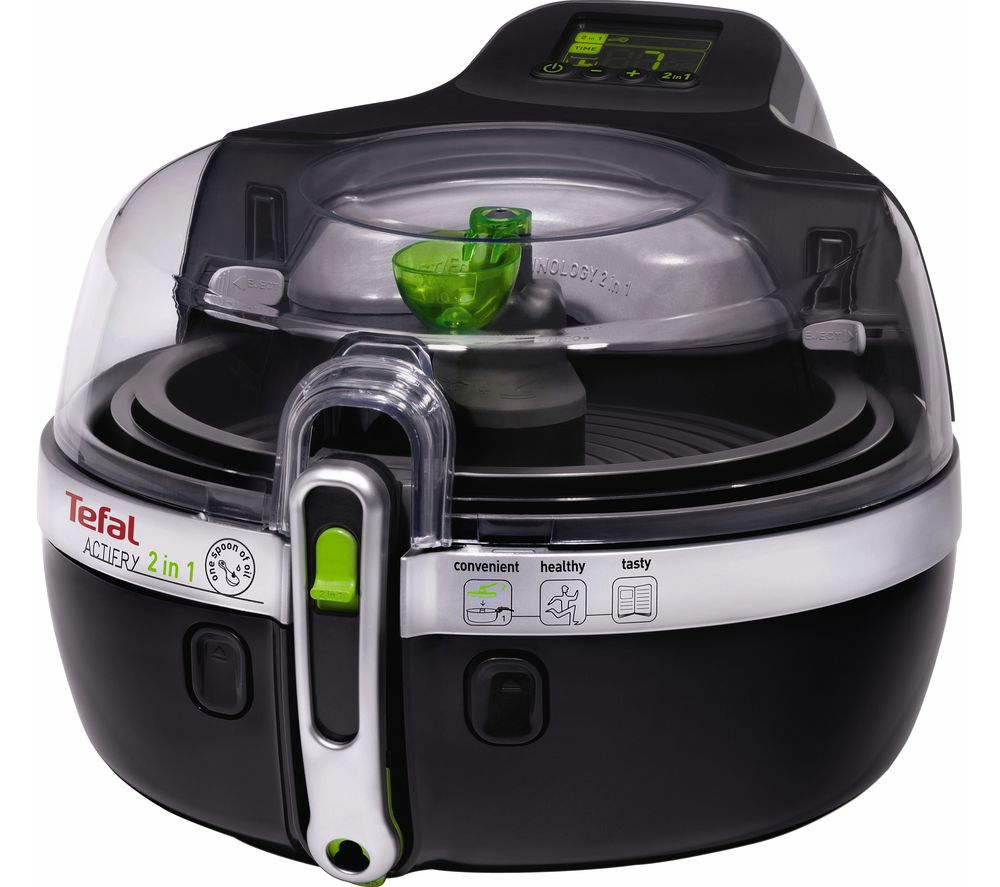 buy tefal yv960140 actifry 2in1 fryer black free delivery currys. Black Bedroom Furniture Sets. Home Design Ideas