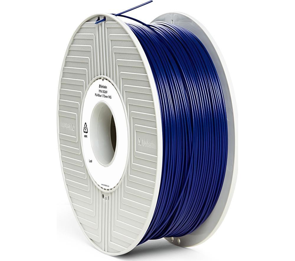 VERBATIM PLA Filament 3D Printer Cartridge - 1 kg, Blue