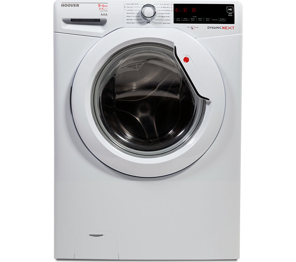 HOOVER WDXA496A2 Washer Dryer - White