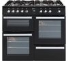 FLAVEL Milano 100 cm Dual Fuel Range Cooker - Black & Chrome