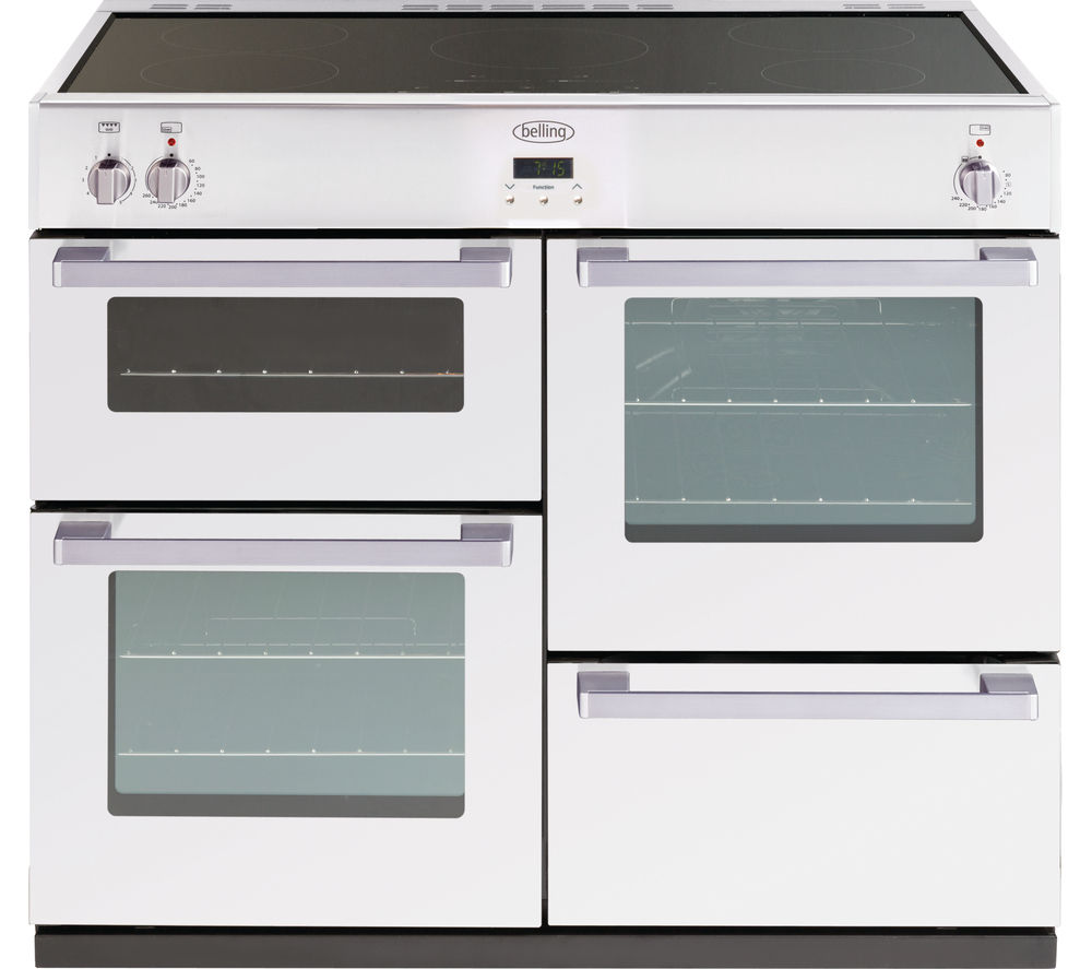 BELLING DB4 100Ei 100 cm Electric Induction Range Cooker - White