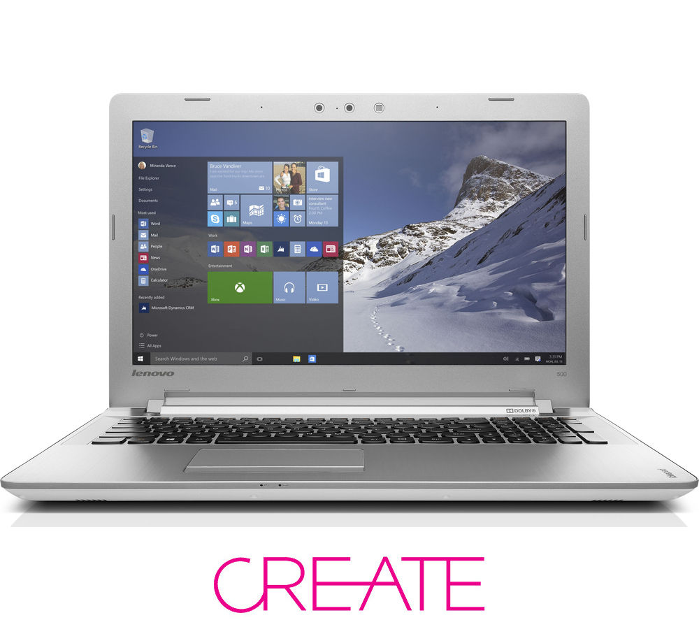 lenovo ideapad 500 15 6 laptop white deals pc world. Black Bedroom Furniture Sets. Home Design Ideas