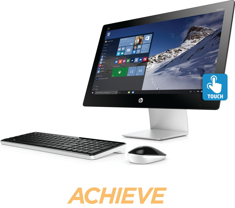 hp pavilion 23 q110na 23 touchscreen all in one pc deals pc world. Black Bedroom Furniture Sets. Home Design Ideas