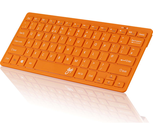 Image of GOJI GKBMMOR16 Wireless Keyboard - Orange
