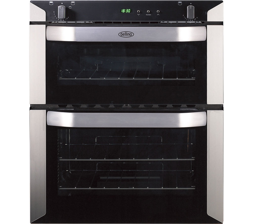 BELLING  BI70G Gas Builtunder Double Oven  Stainless Steel Stainless Steel