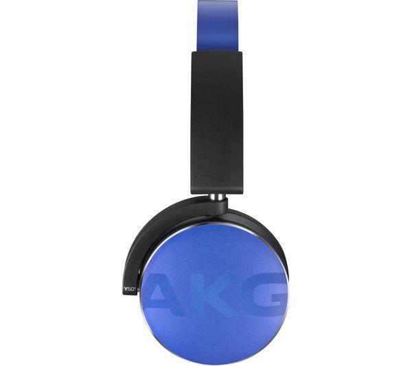 Image of AKG Y50BT Wireless Bluetooth Headphones - Blue