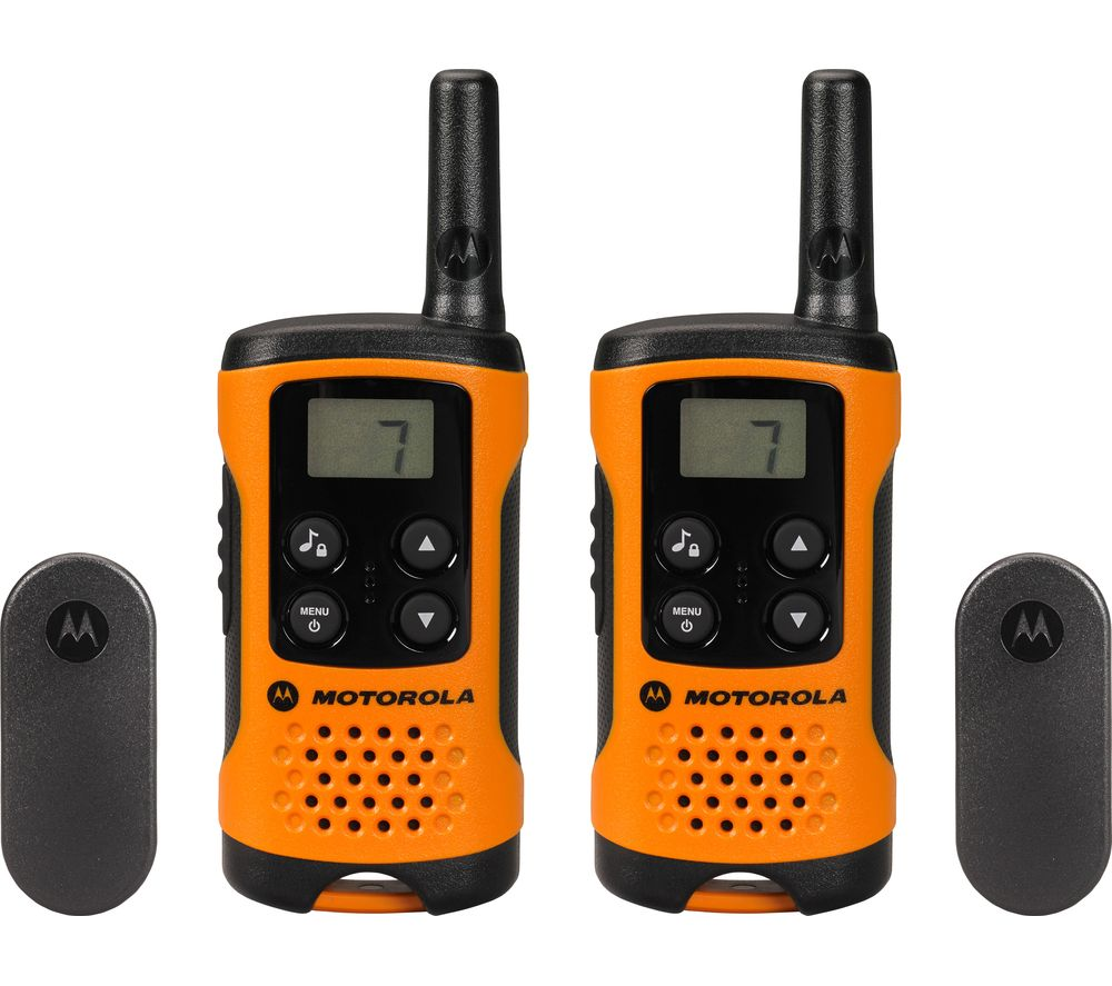 motorola tlker 41 walkie talkie orange black deals pc world. Black Bedroom Furniture Sets. Home Design Ideas