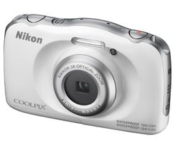 NIKON COOLPIX W100 Tough Compact Camera - White