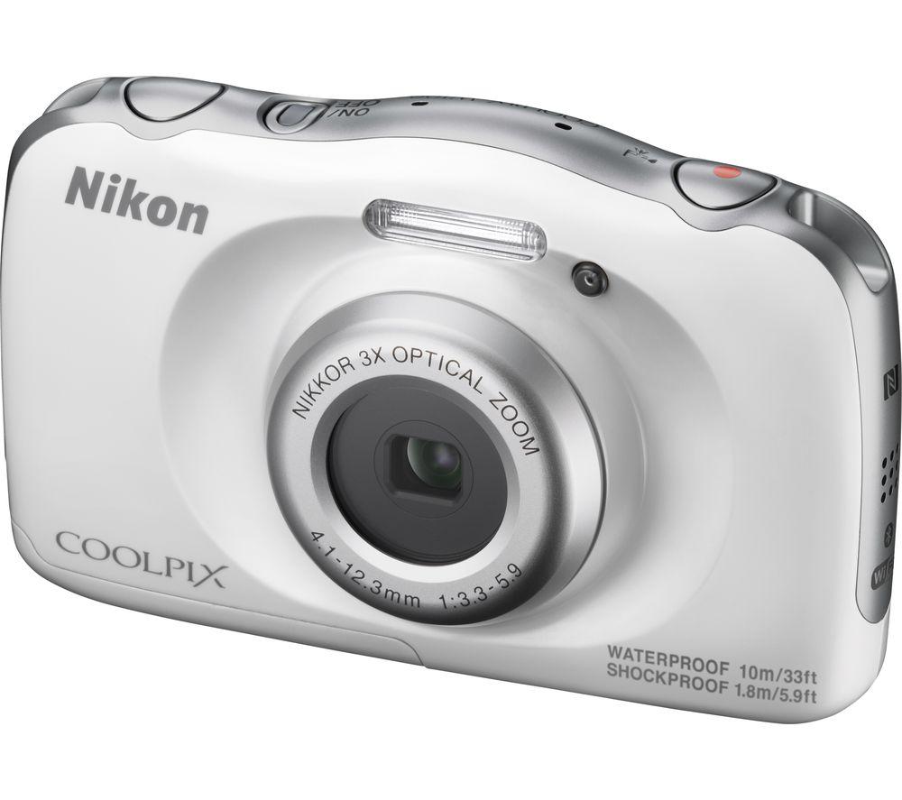 NIKON COOLPIX W100 Tough Compact Camera - White