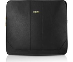 """GUESS Saffiono 11"""" Leather Laptop Sleeve - Black"""