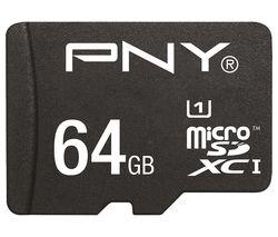 PNY High Performance Class 10 microSDHC Memory Card - 64 GB
