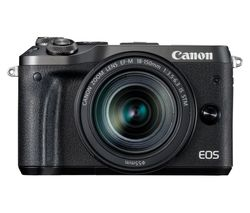 CANON EOS M6 Mirrorless Camera with 18-150 mm f/3.5-6.3 Wide-angle Zoom Lens - Black