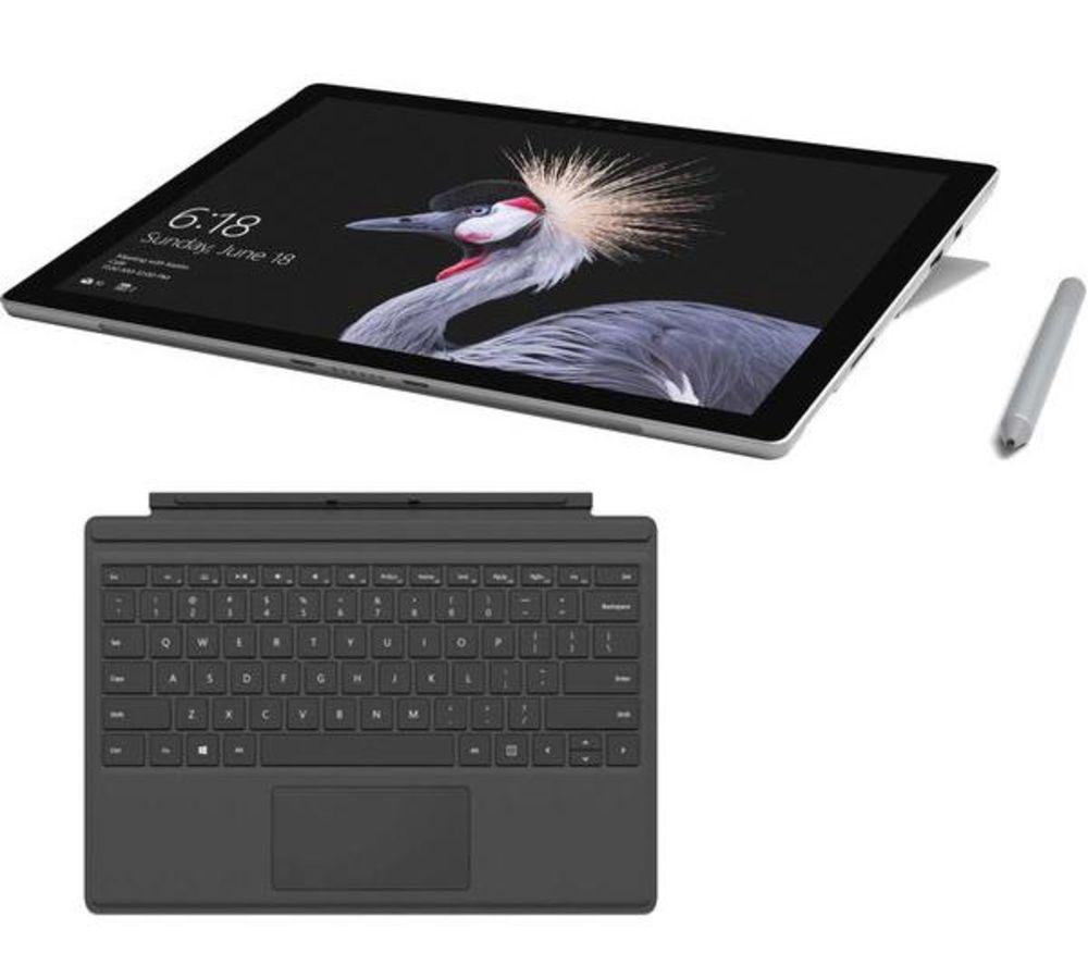 MICROSOFT Surface Pro, Typecover & Surface Pen Bundle - 256 GB