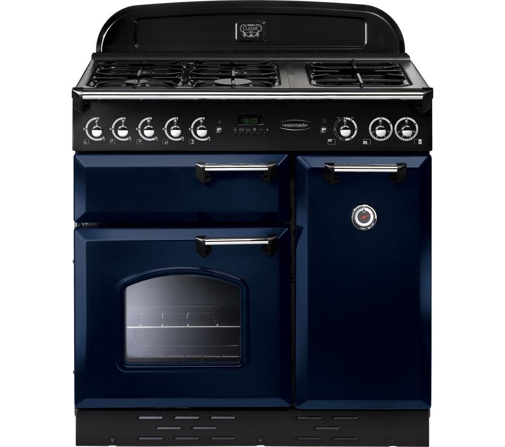 buy rangemaster classic 90 dual fuel range cooker blue. Black Bedroom Furniture Sets. Home Design Ideas