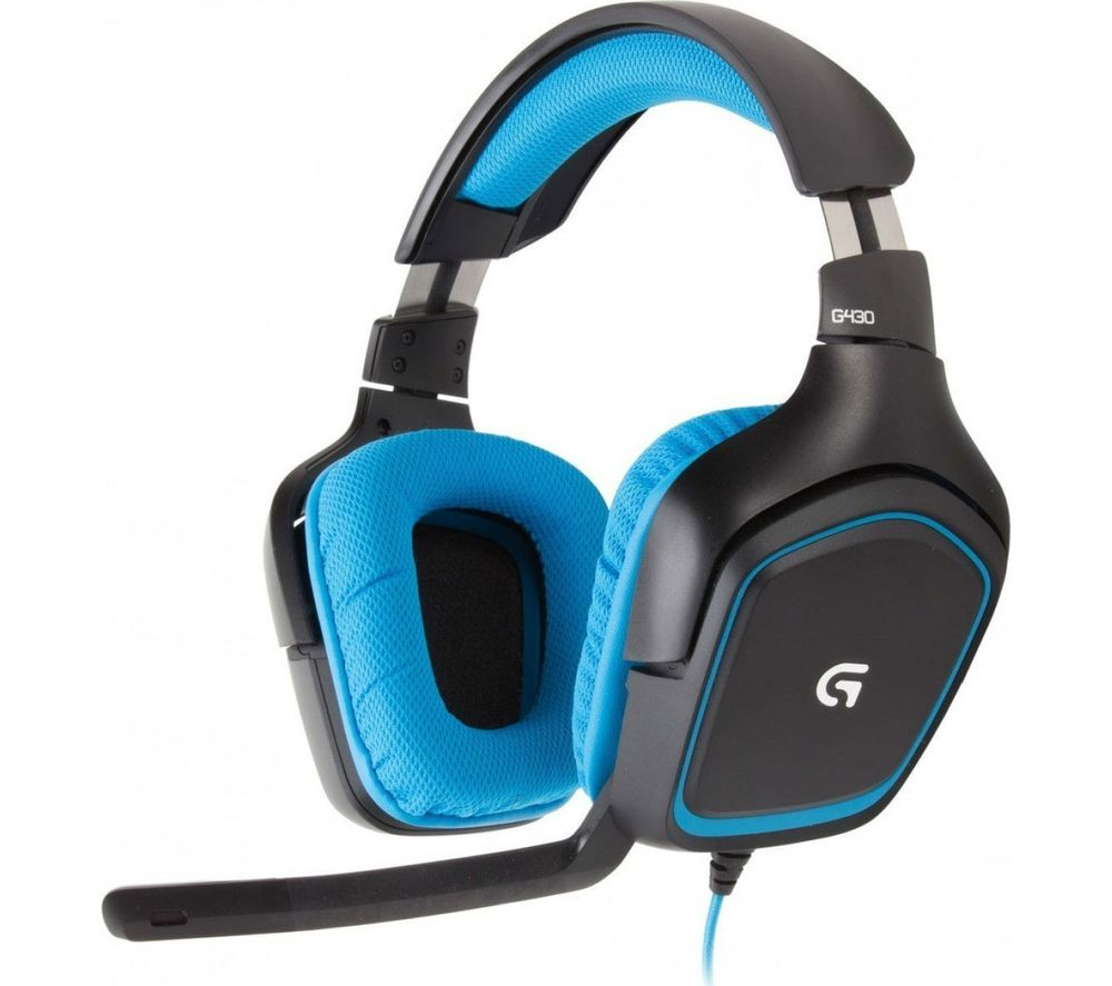 Buy LOGITECH G430 Gaming Headset - Black & Blue