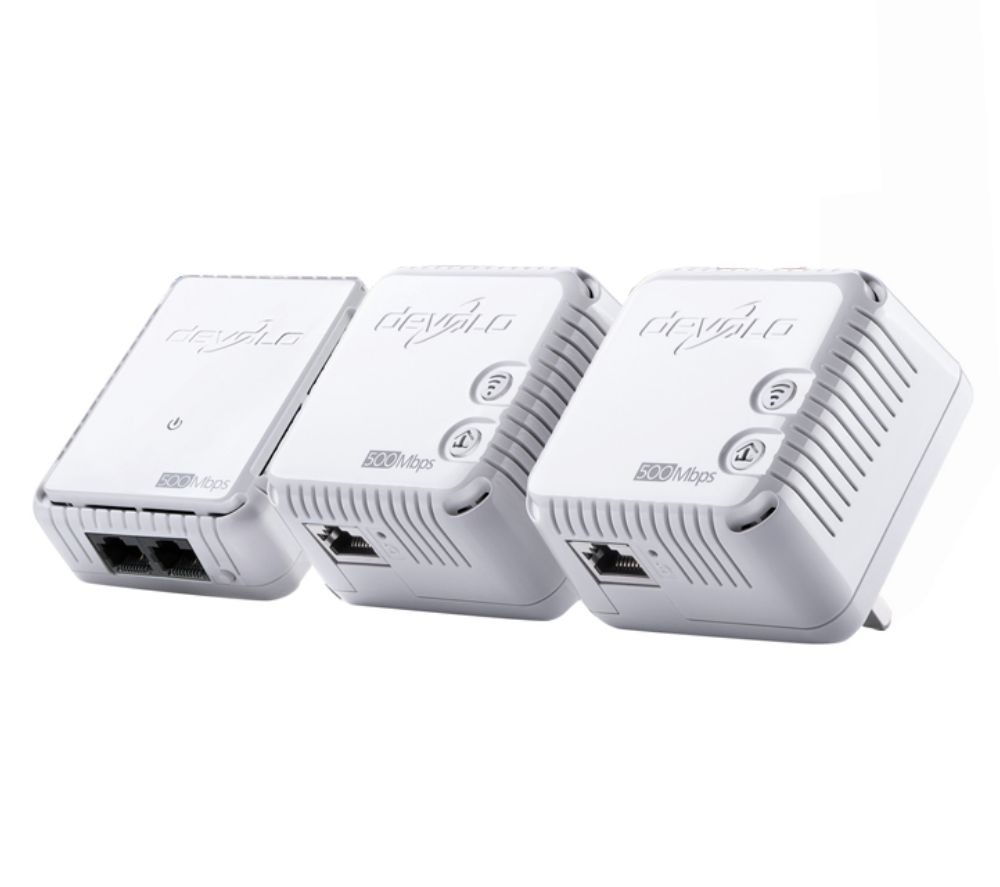 DEVOLO dLAN 500 Wireless Powerline Adapter Kit - Triple Pack