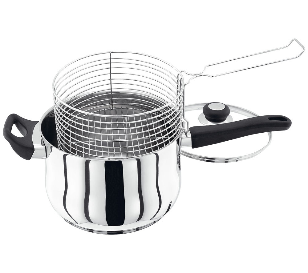 JUDGE VISTA  JJ84 22 cm Chip Pan  Stainless Steel Stainless Steel