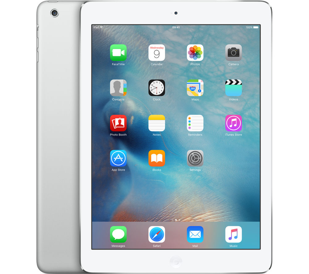 buy apple ipad air 1 16 gb silver free delivery currys. Black Bedroom Furniture Sets. Home Design Ideas