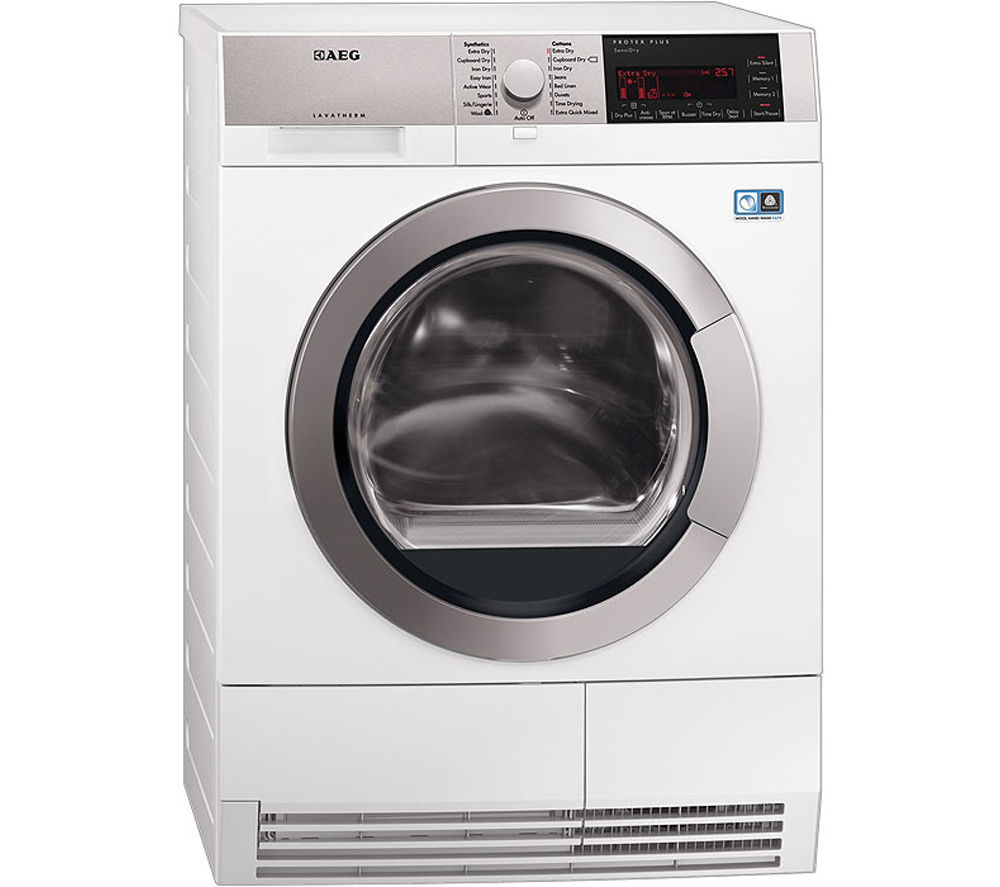 Heat Pump Dryer ~ Aeg t ih heat pump condenser tumble dryer white