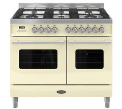 BRITANNIA Delphi RC10TGDECR Dual Fuel Range Cooker - Gloss Cream & Stainless Steel
