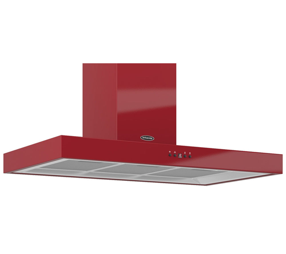 BRITANNIA Arioso K7088A90R Chimney Cooker Hood - Gloss Red