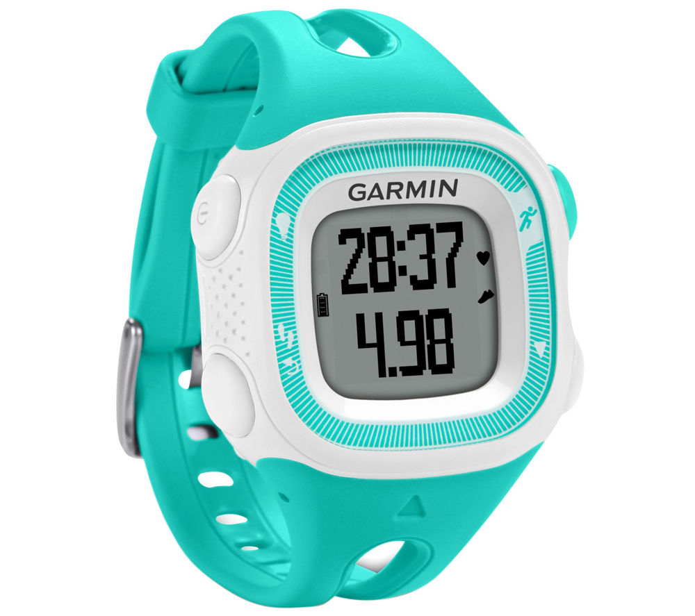 Buy garmin forerunner 15 gps running watch teal white free delivery currys for Watches garmin