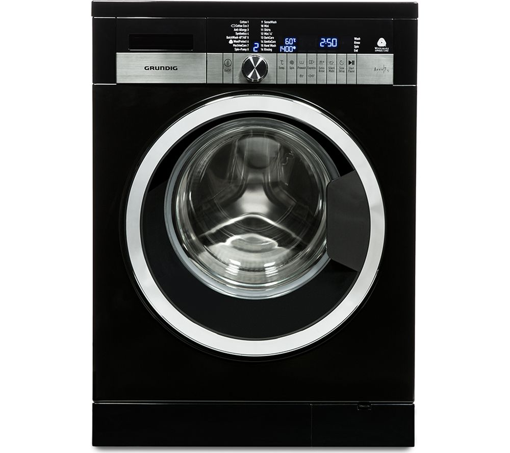 GRUNDIG  GWN47430CB Washing Machine  Black Black