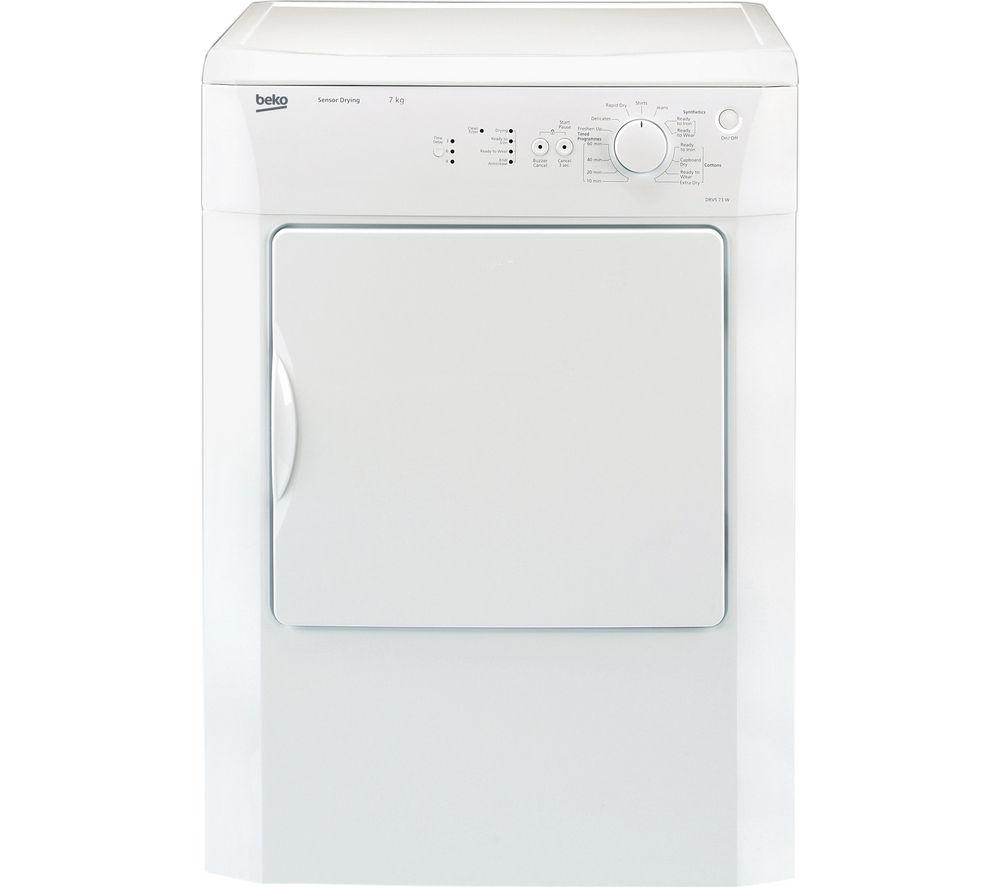 BEKO  DRVS73W Vented Tumble Dryer - White +  DFS05X10W Slimline Dishwasher - White