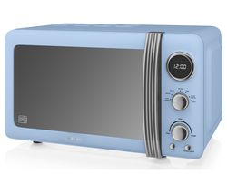 SWAN Retro Digital SM22030BLN Solo Microwave - Blue