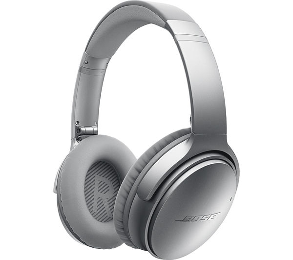Bose QuietComfort 35 Over-Ear USB Wireless Bluetooth Headphones (Silver)