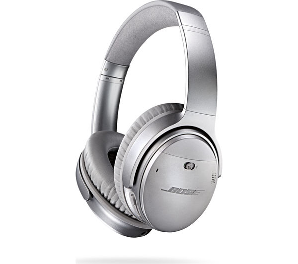 Buy BOSE QuietComfort 35 Wireless Bluetooth Noise-Cancelling Headphones - Silver