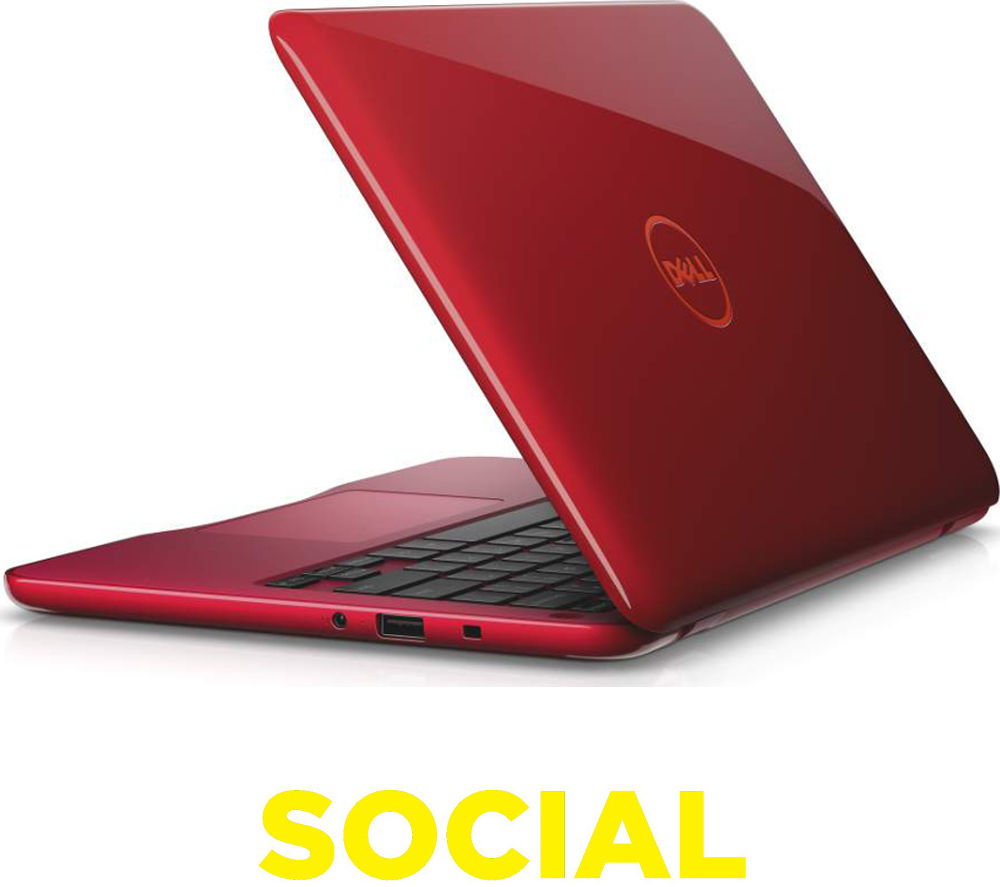 "Image of DELL Inspiron 11-3162 11.6"" Laptop - Red"