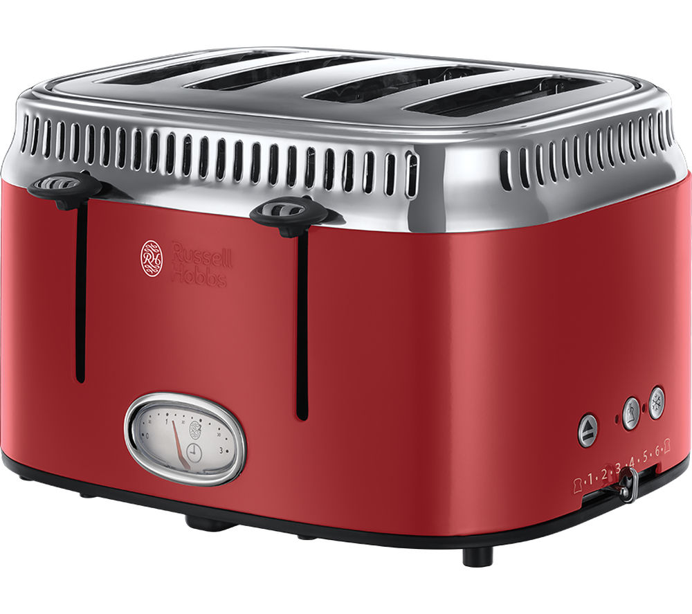 RUSSELL HOBBS  Retro Red 4SL 21690 4Slice Toaster  Red Red