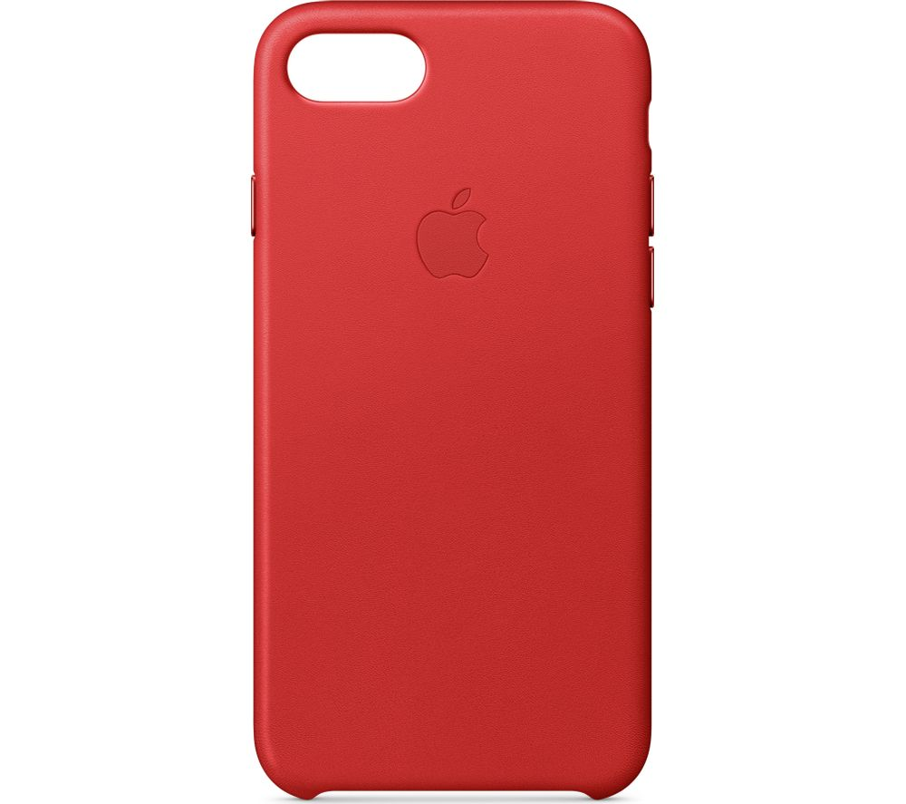 APPLE Leather iPhone 7 Case - Red