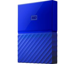 WD My Passport Portable Hard Drive - 2 TB, Blue