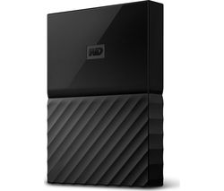 WD My Passport Portable Hard Drive - 2 TB, Black