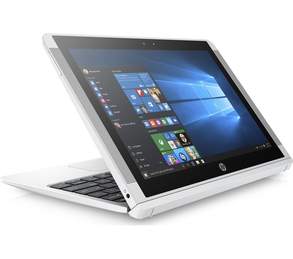 "HP x2 10-p058na 10.1"" Touchscreen 2 in 1 - White + L10LBK11 11.6"" Slipcase - Black"