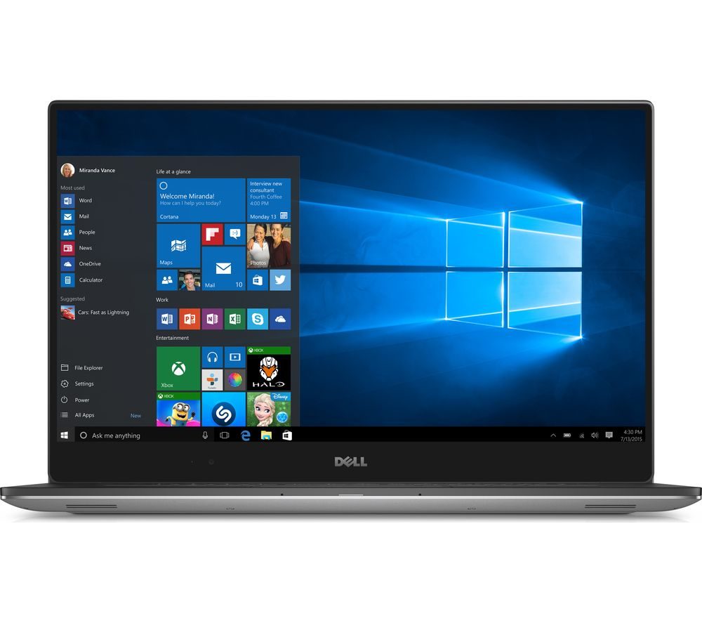 "DELL XPS 15 15.6"" Laptop - Silver + Office 365 Personal"