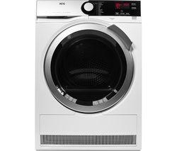AEG SensiDry T7DEE835R Heat Pump Condenser Tumble Dryer - White