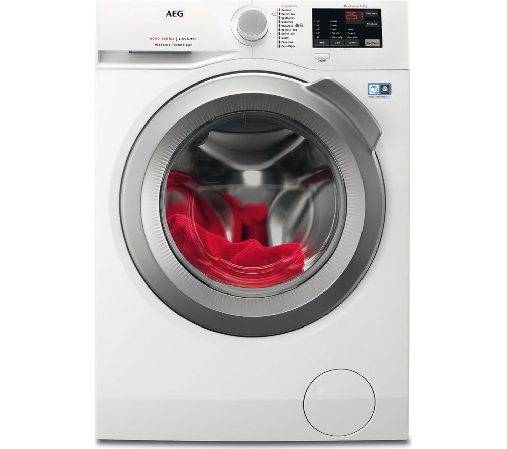 AEG ProSense 6000 L6FBI862N 8 kg 1600 Spin Washing Machine  White White